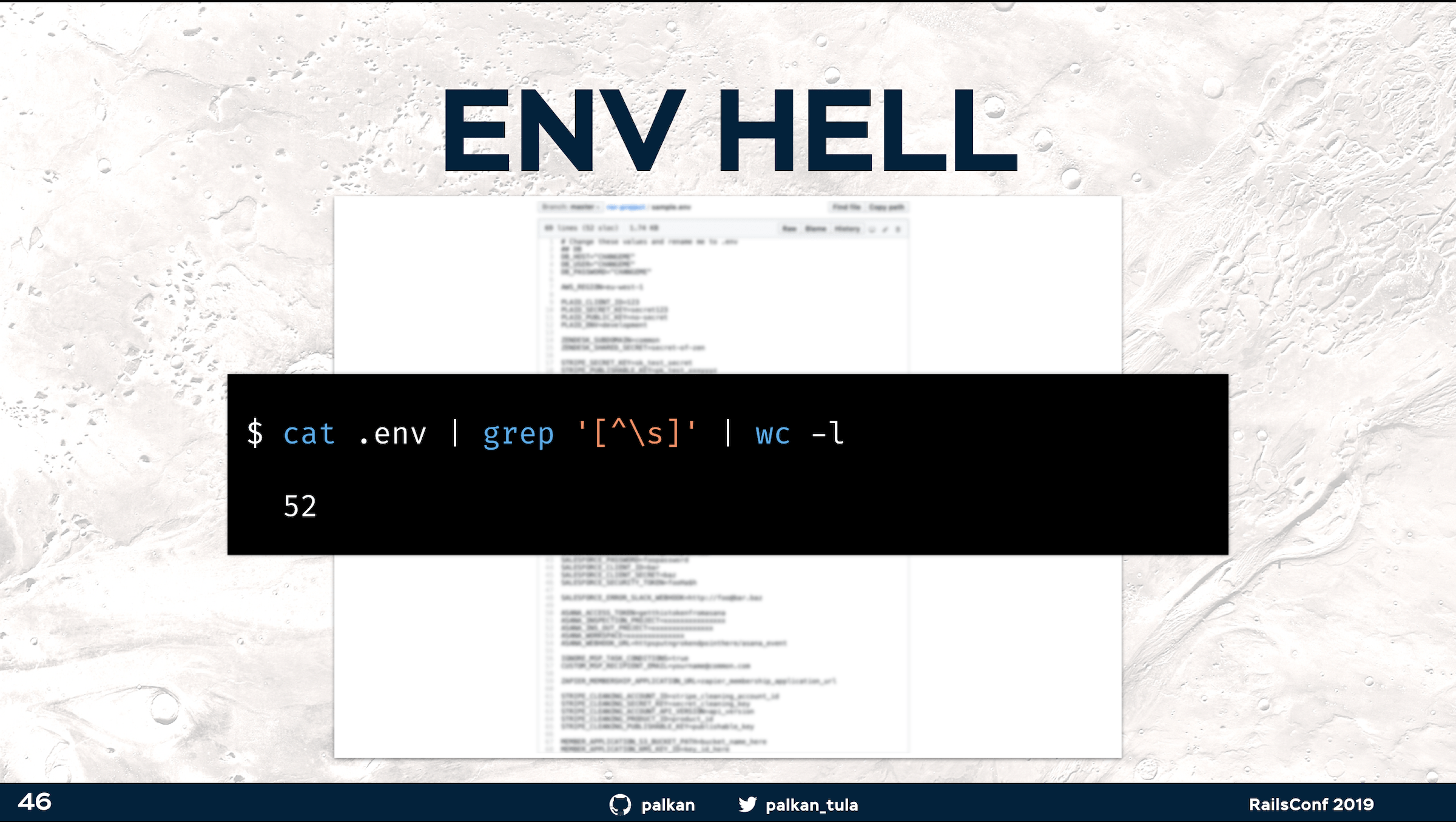 ENV Hell example