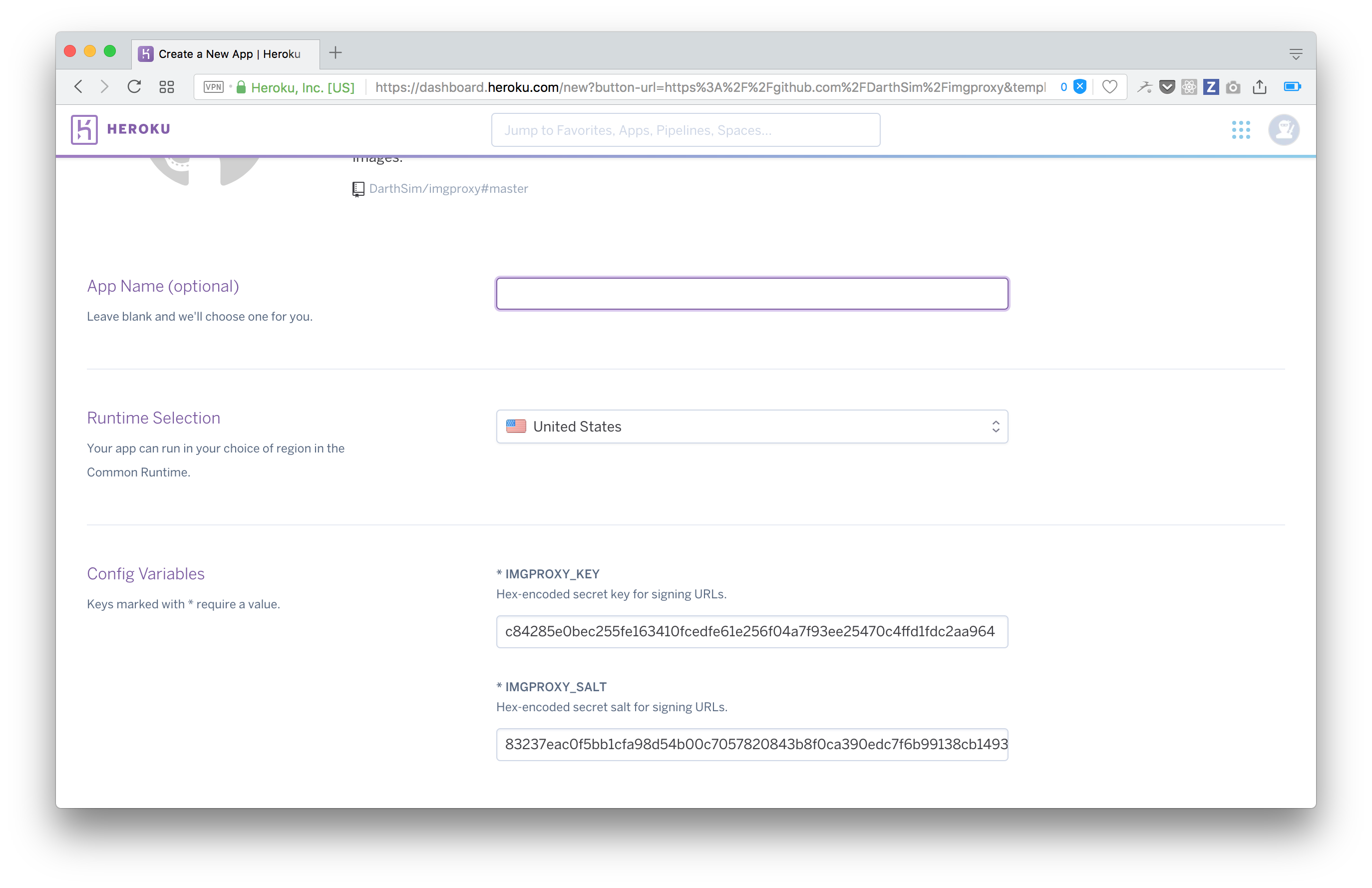 Deploying imgproxy to Heroku