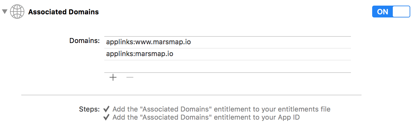Associated Domains section