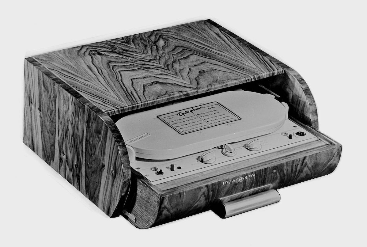 The first cassette tape recorder