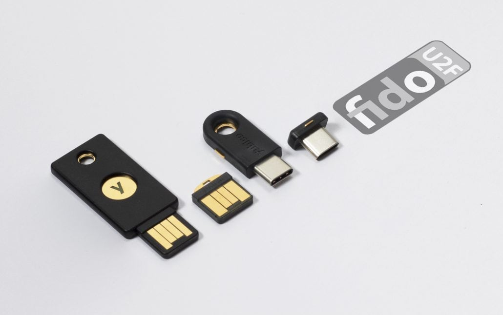YubiKey 4 series family of USB devices