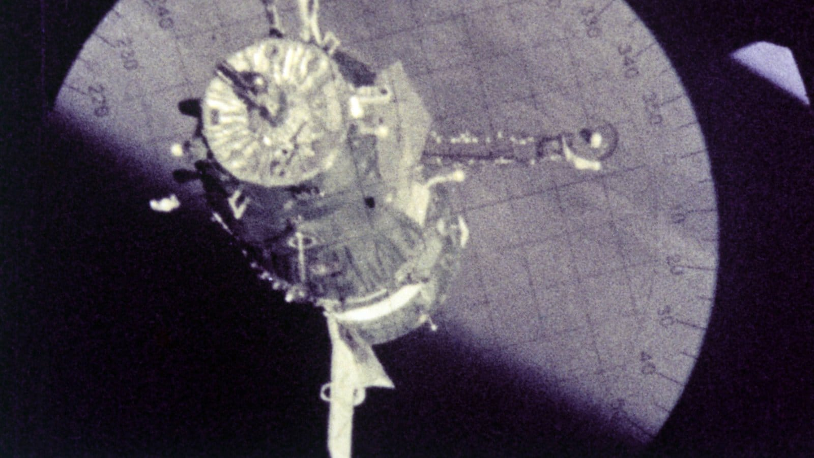 """Soyuz 4 docking from the movie """"Four in the Cosmos"""""""